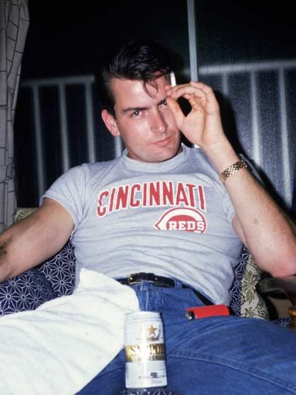charlie sheen young guns. Charlie Sheen after he gets a