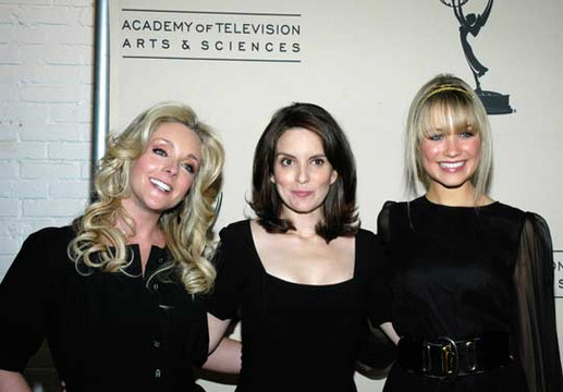 Tina Fey through the years - Jane Krakowski, Tina Fey and Katrina Bowden attend An Evening With '30 Rock' in 2007