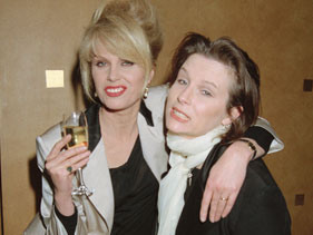 Ab Fab Joanna Lumley on Kate Moss