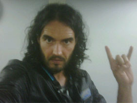 Russell Brand tweets from the slammer