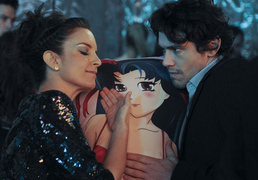 30 Rock Season 4 and 5 Guest Stars - Liz gets affectionate with James Franco's Japanese love pillow