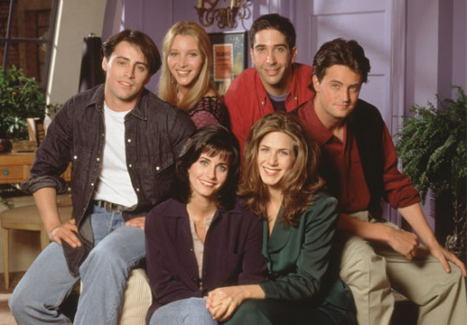 The Ones with the Friends cast in weird places - So young and smooth....