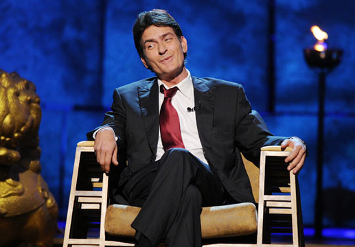 Comedy Central Roast of Charlie Sheen - Charlie Sheen laughing at The Comedy Central Sheen Roast
