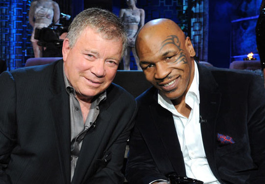 Comedy Central Roast of Charlie Sheen - William Shatner and Mike Tyson at The Comedy Central Sheen Roast
