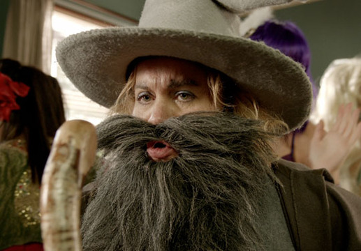 Threesome - Episode 7 - Sue dressed as Gandalf. Uncanny.
